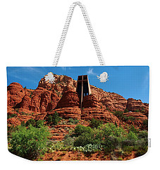 Weekender Tote Bag featuring the photograph Chapel Of The Holy Cross by Dany Lison