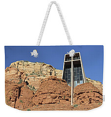 Weekender Tote Bag featuring the photograph Chapel Of The Holy Cross by Penny Meyers