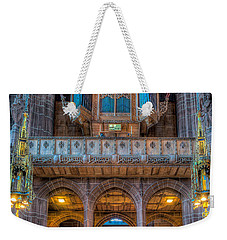 Weekender Tote Bag featuring the photograph Chapel Organ by Adrian Evans