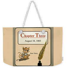 Weekender Tote Bag featuring the painting Chapter Three by Reynold Jay