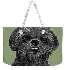 Charcoal Shih Tzu  Weekender Tote Bag
