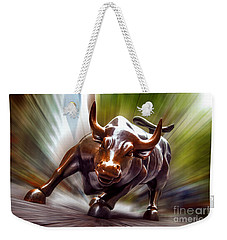 Charging Bull Weekender Tote Bag by Az Jackson