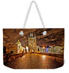 Charles Bridge At Night Weekender Tote Bag by Madeline Ellis