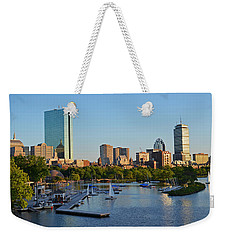 Charles River At Sunset Weekender Tote Bag