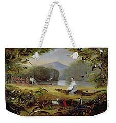 Charles Waterton Capturing A Cayman, 1825-26 Weekender Tote Bag by Captain Edward Jones