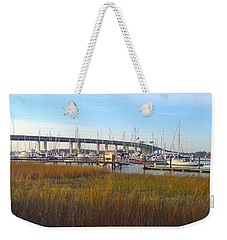 Charleston Harbor And Marsh Weekender Tote Bag by M West