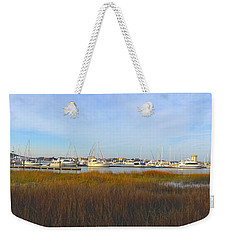 Charleston Harbor Panorama Weekender Tote Bag by M West