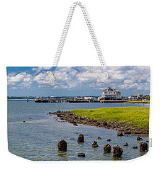 Weekender Tote Bag featuring the photograph Charleston Harbor by Sennie Pierson