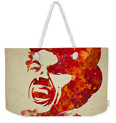 Charlie Chaplin Watercolor Painting Weekender Tote Bag