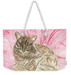 Weekender Tote Bag featuring the painting Charlie by Tracey Williams