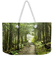 Weekender Tote Bag featuring the photograph Charlies Bunion Bald Trail by Debbie Green