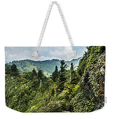 Weekender Tote Bag featuring the photograph Charlies Bunion Trail by Debbie Green