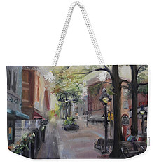 Charlottesville's Historic Downtown Mall Weekender Tote Bag by Donna Tuten
