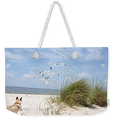 Chasing Gulls Weekender Tote Bag by Jan Amiss Photography