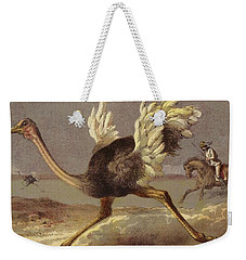 Chasing The Ostrich Weekender Tote Bag by English School