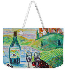 Chateau Wine Weekender Tote Bag