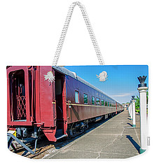 Weekender Tote Bag featuring the photograph Chattanooga Choo Choo 1 by Susan  McMenamin
