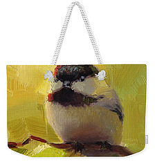 Chatty Chickadee - Cheeky Bird Weekender Tote Bag