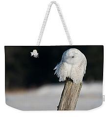 Cheeky Snowy Weekender Tote Bag by Cheryl Baxter