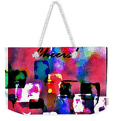 Weekender Tote Bag featuring the painting Cheers by Lisa Kaiser