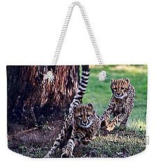 Cheetah Cubs Weekender Tote Bag