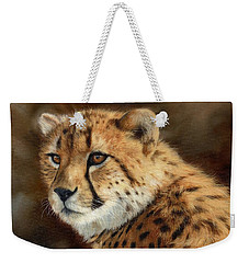 Cheetah Weekender Tote Bag by David Stribbling