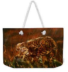 Cheetah Family After The Rains Weekender Tote Bag