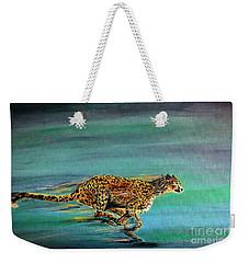Cheetah Run Weekender Tote Bag
