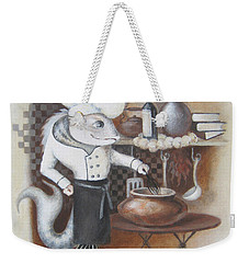 Weekender Tote Bag featuring the painting Chef by Marina Gnetetsky