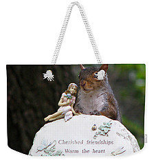 Weekender Tote Bag featuring the photograph Cherished Friendships by John Haldane