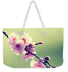 Weekender Tote Bag featuring the photograph Cherry Blooms by Yulia Kazansky