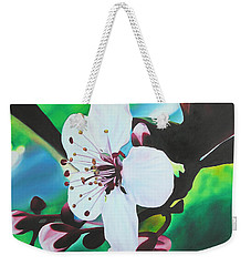 Weekender Tote Bag featuring the painting Cherry Blosom by Joshua Morton