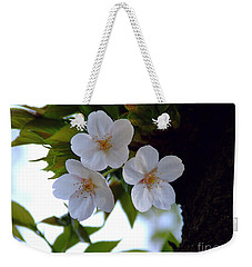 Weekender Tote Bag featuring the photograph Cherry Blossom by Andrea Anderegg
