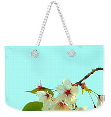 Cherry Blossom Flowers Weekender Tote Bag by Rachel Mirror