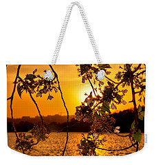 Weekender Tote Bag featuring the photograph Cherry Blossom Sunset by Mitchell R Grosky
