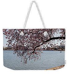 Cherry Blossom Trees With The Jefferson Weekender Tote Bag by Panoramic Images