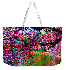Cherry Blossom Walk Tidal Basin At 17th Street Weekender Tote Bag by Tom Jelen