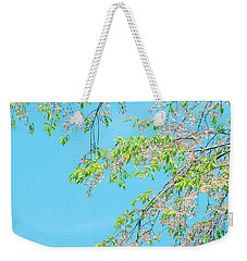 Cherry Blossoms Falling Weekender Tote Bag