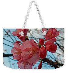 Cherry Blossoms Weekender Tote Bag by Pamela Walton