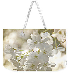 Cherry Blossoms Weekender Tote Bag by Peggy Hughes