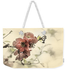 Weekender Tote Bag featuring the photograph Cherry Blossoms by Peter v Quenter
