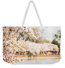 Weekender Tote Bag featuring the photograph Cherry Blossoms In Washington Dc by Vizual Studio