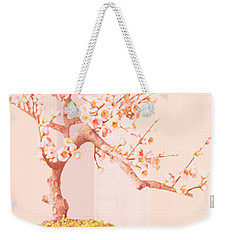 Cherry Bonsai Tree Weekender Tote Bag by Marian Cates