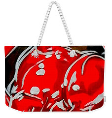 Weekender Tote Bag featuring the painting Cherry Lips by Marisela Mungia
