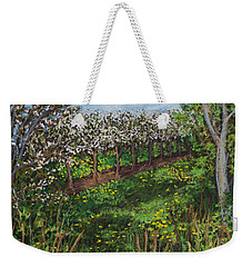 Cherry Orchard Evening Weekender Tote Bag by Madonna Siles