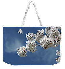 Cherry Tree Weekender Tote Bag by Karen Silvestri