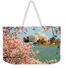 Cherry Trees At The Jefferson Weekender Tote Bag