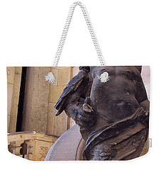 Weekender Tote Bag featuring the photograph Cherub At The Entrance Of Zwinger Palace - Dresden Germany by Jordan Blackstone