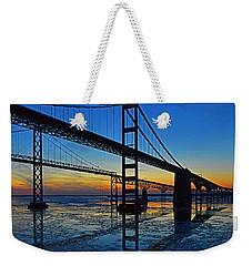 Chesapeake Bay Bridge Reflections Weekender Tote Bag