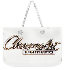 Chevrolet Camaro Emblem Weekender Tote Bag by Jerry Fornarotto